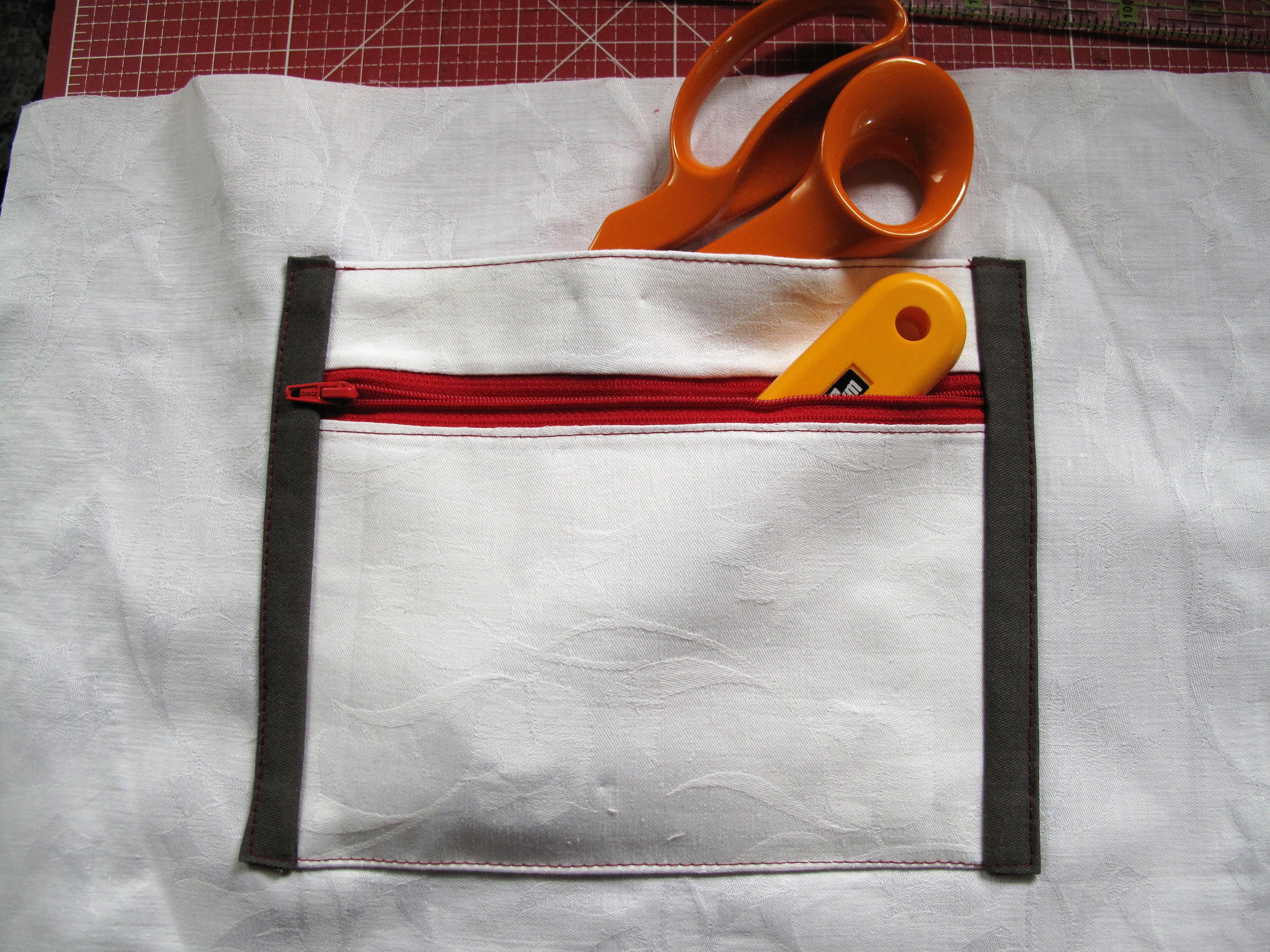 Multifunktionstaschen für das Taschenfutter – Tutorial – Stoff und Zwirn