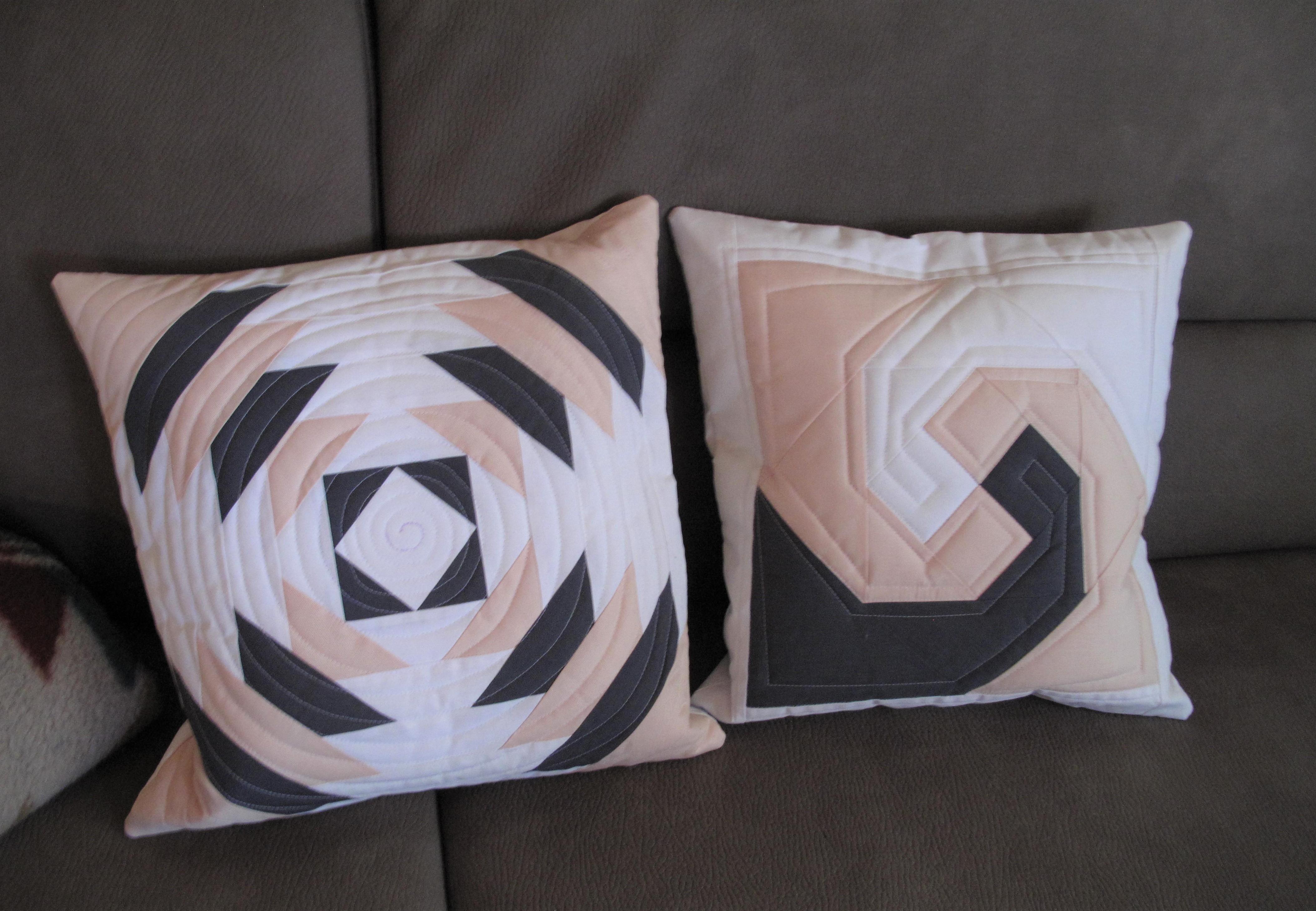 kissenbez ge aus herrenhemden stoff und zwirn. Black Bedroom Furniture Sets. Home Design Ideas